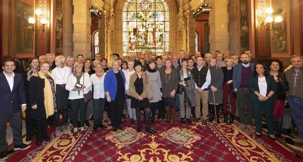Emotivo homenaje a las y los trabajadores de la Diputación Foral de Gipuzkoa jubilados este año